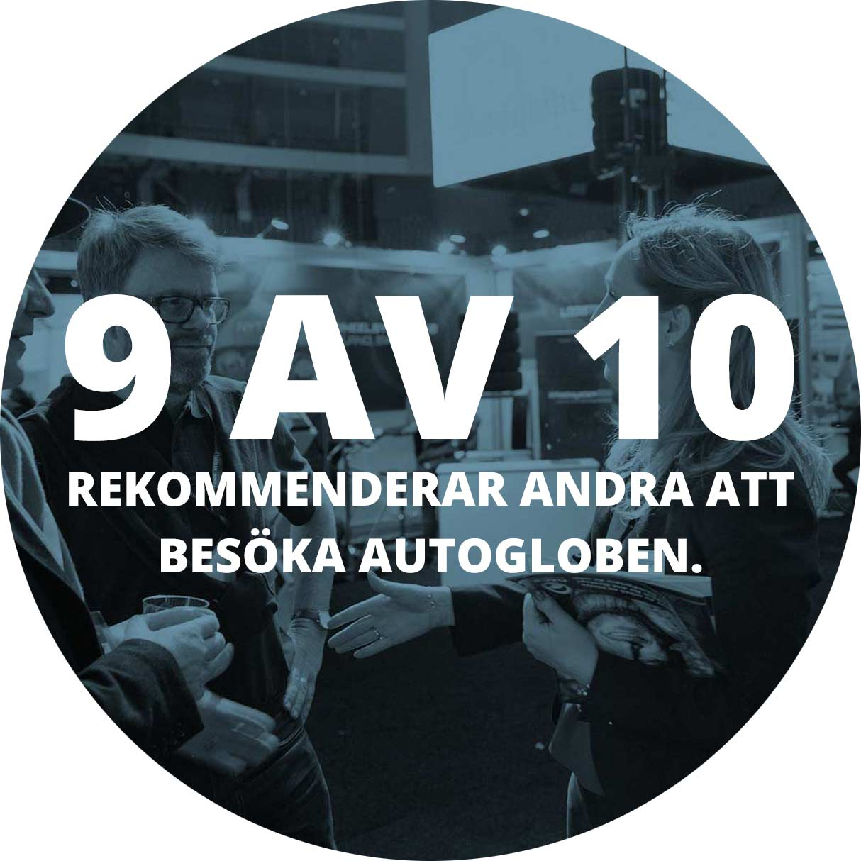 9 av 10 rekommenderar andra att besöka Autogloben.